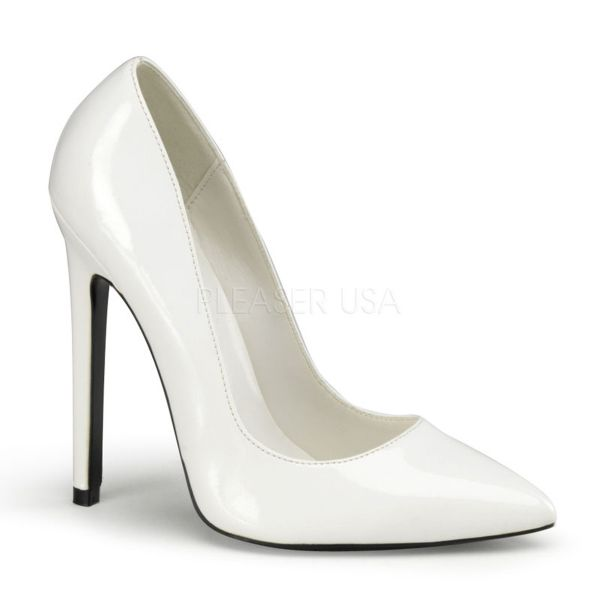 Stiletto High-Heels in weiss Lack SEXY-20